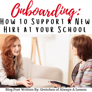 Onboarding How to Support a New Hire at Your School