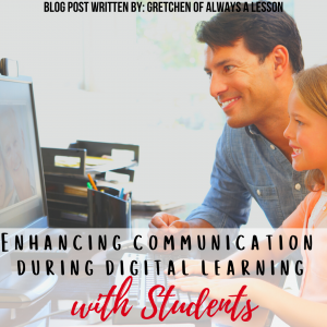 communication during digital learning with students