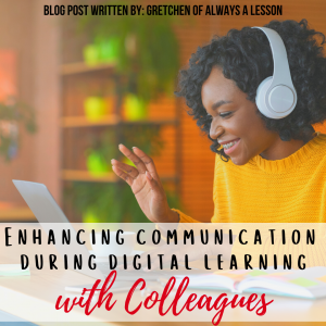 communication during digital learning with colleagues