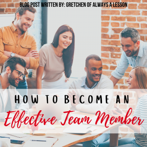 how to become an effective team member